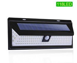 Goodland LED de luz solar al aire libre 118 lámpara solar La luz solar accionada sensor de movimiento PIR lámpara de calle impermeable para decoración de jardín