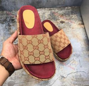 Gucci sandals 2019 neue Art Frauen 573.018 klassische Art und Weise Designer Damen Rote Erdbeere farbige Flip-Sandale Dia-Flops Belieben Top-Marken Xshfbcl