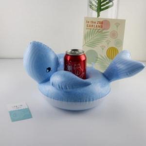 Titulares da baleia Flutuante Inflável Bebida Pode Suporte de Telefone Celular Stand Piscina Brinquedos Fontes Do Partido Do Evento
