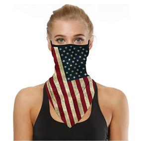 Moda maschera facciale Bandana Ear Loop Eleganti Uomo Donna Scaldacollo per Polveri vento moto multiuso scaldini del collo Sciarpa