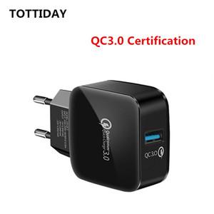 Qc 3.0 Fast Charge EU Wall charging head Single Port USB зарядное устройство для мобильных телефонов iphone samsung
