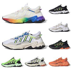 2019 Marca de moda para hombre Zapatos casuales Raf Simons Ozweego Zapatos de diseño para mujer de lujo Triple White Black Pride Solar Yellow Sports Sneakers
