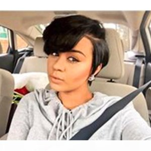 Brazilian Short pixie cut wigs Bob Human Hair side a Little Lace Front Wigs with Baby Hair for Black Women Natural Color