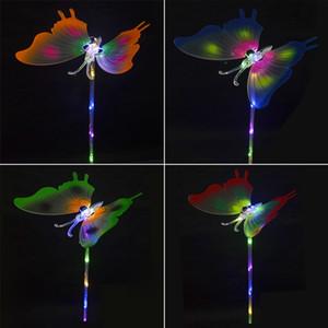 Bunter LED-Schmetterling-glühendes LED-Beleuchtung Baby Shower Kinder Spielzeug Geburtstag Hochzeit Brautparty-Dekor-Partei-Dekoration CCA11948 60pcs