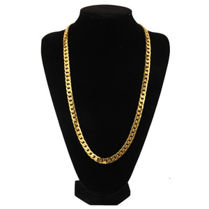 Hip Hop 10mm 75cm kubanische Ketten für Männer Luxus Gold Link Kette Halsketten Legierung Modeschmuck Geschenke für Freund bf Geburtstag Geschenke