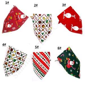Schöne Weihnachten Pet Baumwolle Schal-Halstuch-Kleid Weihnachtshundekostüm Triangular Bandanas Pet Hunde Katzen Grooming Supplies A110706