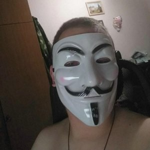 Anonymous Guy Fawkes Fancy Dress Adult Costume Accessory macka mascaras halloween The V for Vendetta Party Cosplay masque Mask