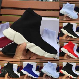 Top Quality Speed Trainer degli uomini di modo donne stilista scarpe da ginnastica nere Mens bianco blu formatori casuale scarpe calzino Runner Dimensioni 5-11