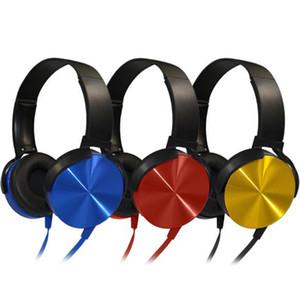 Marca gamer fone de ouvido colorido com fio fone de ouvido de metal baixo pesado som profissional computador gamer fone de ouvido com microfone hd para computador