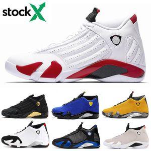 özel anları Erkek Spor Eğitmenler Spor Ayakkabılar gök şeker kamışı tanımlayan Stok X-Men Tasarımcı 14 14s Üniversite Kırmızı Basketbol Ayakkabı Kırmızı siyah ayak