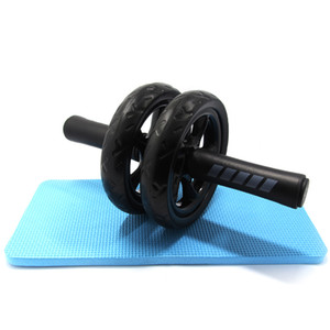 No Noise Abdominal Wheel Ab Wheels Roda Rollers With Mat For Exercise Fitness Equipment Muscle Trainer.