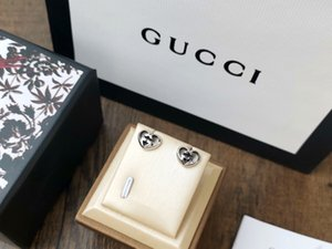 Designer de Luxo Double Heart Amor brincos Jóias Presentes Mulheres Alta Qualidade Marca Prata Brinco