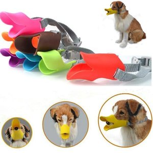 9 colors Anti Bite Duck Mouth Shape Dog Mouth Covers Anti-called Muzzle Masks silicone Pet Mouth Set Pet Masks
