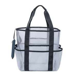 High Quality Beach Bag Foldable Portable Children Mesh Storage Bag Outdoor Beach Park Swimming Toys Towel Clothes Organizer Bag