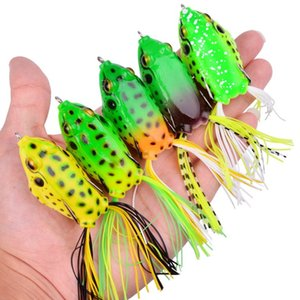 Top Water Ray Frog Forma Sports Entertainment 1Pc 65 millimetri 14g ciprinidi manovella wobbler per pesca a mosca morbido tubo Bait Giappone plastica