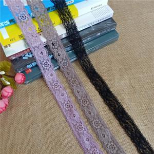 2Yard / Lot Ширина 3см S1257 colorul Stretch Эластичные кружева ленты атласные многоцветные кружева отделки одежды для DIY одежды Sewing Краю и Handmade