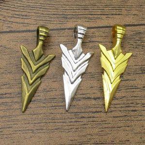Big Arrow Head Подвеска 8шт / Lot 46 * 20мм Fit BraceletNecklaceEarring ювелирных изделий DIY шарма браслет 3 цвета, имеющиеся в наличии WY1082