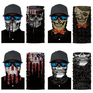 1PC Multi-Color Magic Bandana Women Men Printed Anti-UV Face Mask Neck Er Summer Multifunctional Skull Scarf Cycling Accessories#185