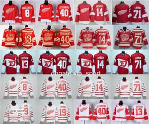 Detroit Red Wings Hóquei 13 Pavel Datsyuk Jersey 2016 Estádio Série Centenário Clássico 40 Henrik Zetterberg Gordie Howe Steve Yzerman
