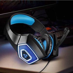 7 colores de luz LED estéreo PC Gaming Headset 3D con cable Auriculares con micrófono Mute Botón de 3,5 mm portátil PS4 Computer Xbox USB Auricular