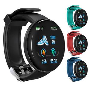 2019 New Hot Sale Smart Wristbands Heart Rate Monitor Blood Pressure Smartwatch Watch Waterproof Sport Tracker Watch D18