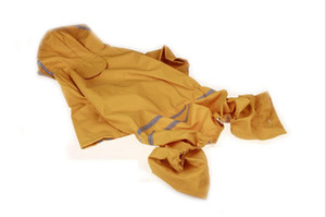 10PCS LOT Good Quality Large Dog Raincoats Outdoor Raining Vest Lightweight Poncho Rainwear Clothes Pet Waterproof Jacket