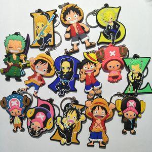 COSANER One Piece Luffy Zoro Cartoon Anime Key Chain PVC Figure Keyring Toy Keychain Keyholder Gift NEW Trinkets