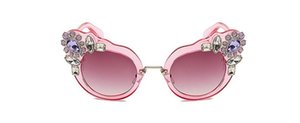 New flower diamond sunglasses women's sunglasses fashion big glasses