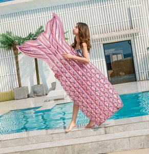 Single Beach Pool Swimming Air Mattress Summer Inflatable Floating Sleeping Bed Chair Lounge Hammock Water Sport Party Toys Water Game #X38H
