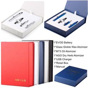 Magic 3 in 1 E Cigarette Starter Kit Dab Pen Cera vaporizzatore 650mAh 900mAh 1100mAh Vape Pen EVOD Batteria MT3 AGO vetro Globle Vape cartucce
