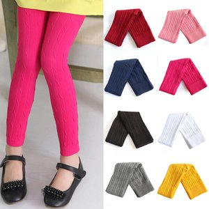Girls Spring Leggings 9 Colors Solid Knitted Tight Trousers Toddler Big Girls Autumn Soft Skinny Pants Teens Kids Clothes EUR 060609