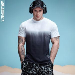 Men 's Pamuk Gradyan T -Shirt Spor Tişörtlü Erkekler Marka Giyim Hip Hop Batik Tişört Homme Mürettebat Boyun Tee Formalar Trend