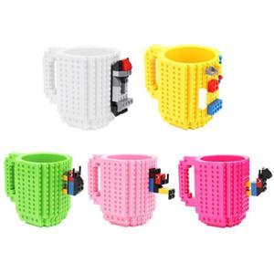 12 Unzen Kaffeetasse Errichten-On Brick Art Building Blocks Cup DIY Block Puzzle-Becher Trinkgefäße