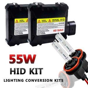 CAR 2PCS 55W HID Xenon Conversion Kit With Slim Ballast-H8 H9 H11-6000K-2 Bulbs & 2 Ballasts