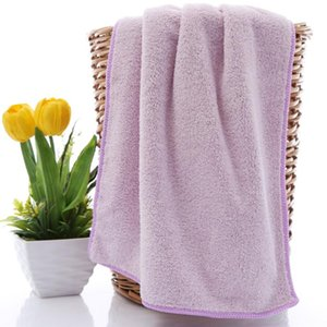 35*75cm Coral Velvet Towel Double-sided Car Washing Water Absorbent Microfiber Swimming Travel Bath Salon Camping Cleaning
