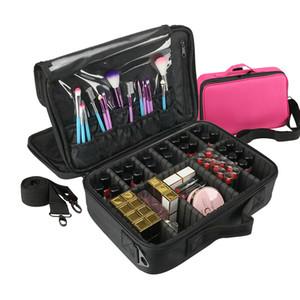 Cosméticos bolsa de maquillaje de viaje cosméticos del organizador bolsa Bolsas compone bolsos Maleta De Maquiagem Profissional Neceser