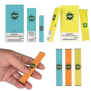 Vente en gros POP Vape Stylos jetables E-cigarettes appareil Pod Starter Kit 280mAh batterie de Vape Cartouches d'emballage de atomiseurs Vider Vaporì
