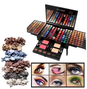 Miss Rose sombra de ojos paleta de 180 colores mate de la paleta Rubor en polvo de cejas Contorno kit de belleza Piano forma de caja