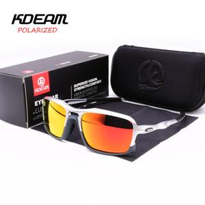 Occhiali da sole Uomo KDEAM Marca TR90 Occhiali da sole polarizzati Cool Pilot Sun Glass Mens Driving Mirror Occhiali da vista maschili KD222
