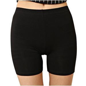 Сексуальные женщины мягкий хлопок Бесшовная безопасности Короткие штаны высокого качества под юбку шорты Модальные Ice Шелковый дышащие Короткие колготки