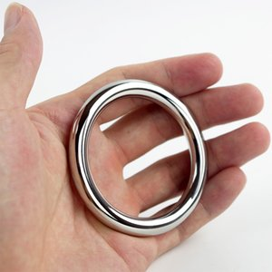 Stainless Steel Cock Ring Ball Stretcher 40 45 50 mm Time Delay Cockring Male Chastity Device Sex Toys Penis Rings Erotic adult Products
