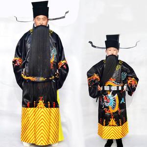 Costume de drame costume ancien ministre chinois scène de l'art oriental porter des vêtements d'opéra classique vêtements de spectacle du festival masculin hanfu