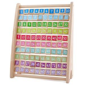 Jouets enfants Montessori Jouets en bois Table bébé Early Multiplication Jouets éducatifs Arithmétique Teaching Aids Math jouet pour les enfants CX200609