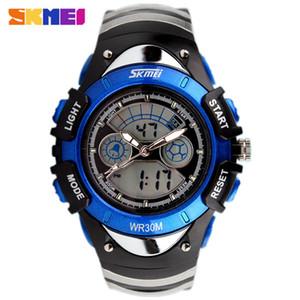 SKMEI детские часы мода Dual Time LED цифровой кварц многофункциональный 30 м водонепроницаемый плавать студент Марка спортивные часы дети наручные часы