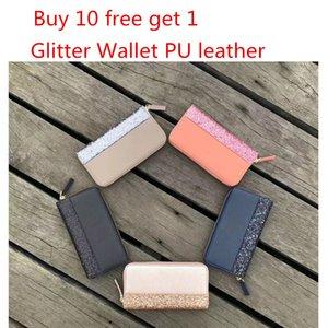 Del progettista di marca donne paillettes glitter portafogli Sparkles portafoglio della moneta purs Wristlets titolare della carta di credito