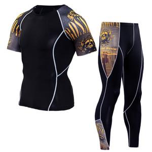 Manica corta da uomo + pantaloni Bicicletta sudore umido di scarico da uomo pantaloni asciutti pantaloni da equitazione Set abbigliamento outdoor