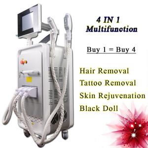 4 en 1 con láser Nd Yag belleza máquina OPT SHR máquina de depilación láser NdYAG equipos láser de eliminación de tatuajes