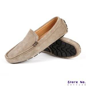 New Spring Breathable Moccasins Men Loafers Shoes Male Flats Suede Leather Casual Boat Walking Driver Footwear Chaussures Hommes