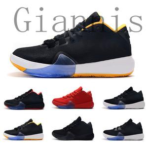 2019 New MVP Giannis Antetokounmpo Griechisch-Freak 1 Triple Black Unterschrift Basketball-Schuh-Frauen-Männer Sport-Turnschuhe Größe 40-46