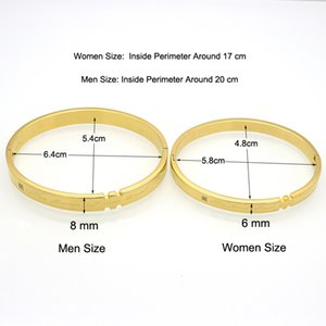 Hot Allergy Free Gold Color Love Couple Bracelet Wholesale High Quality Stainless Steel Bangles Bracelets For Women And Men